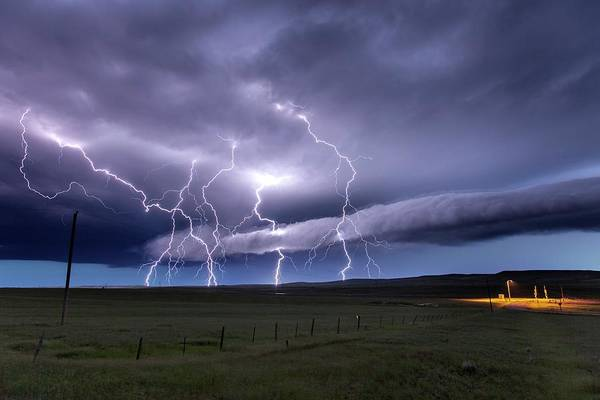Electric Storm Photograph - Lightning Strikes by Roger Hill