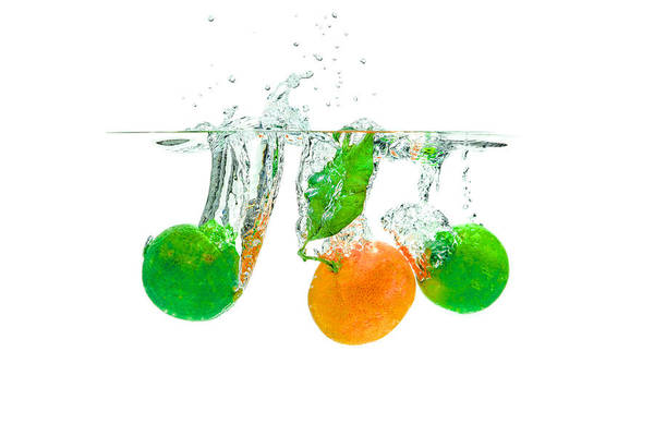 Photograph - Lime And Nectarine by Peter Lakomy