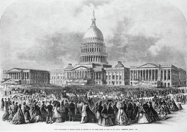 Inauguration Painting - Lincoln Inauguration, 1865 by Granger