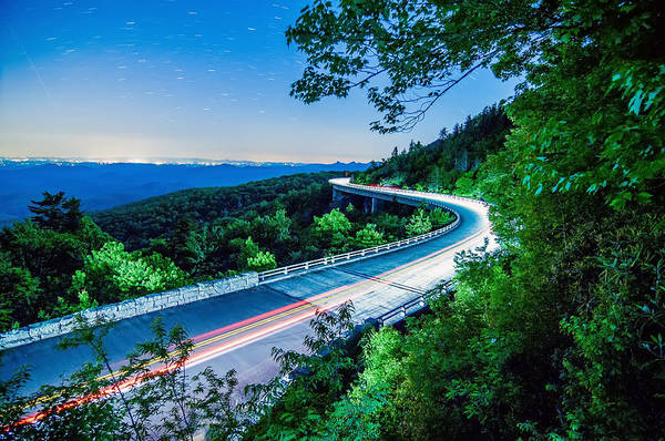 Photograph - Linn Cove Viaduct At Night by Alex Grichenko