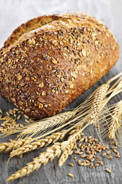 Wall Art - Photograph - Loaf Of Multigrain Bread by Elena Elisseeva