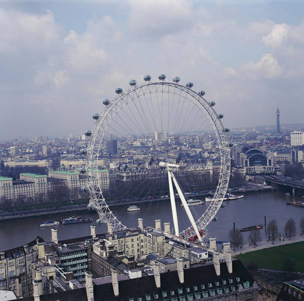 London Eye Photograph - London Eye by Skyscan/science Photo Library