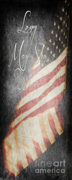 Long May She Wave Art Print