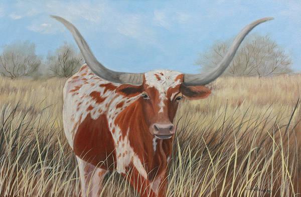 Longhorn Painting - Longhorn by Julie Peterson