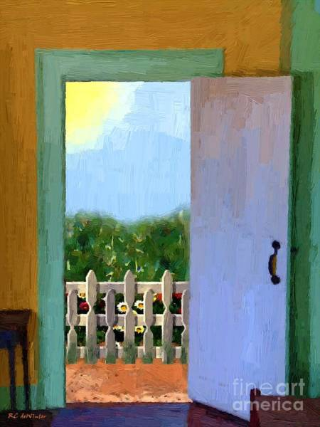 Painting - Looking Out My Back Door by RC DeWinter