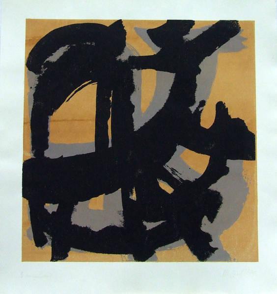 Screenprinting Painting - Loose Form by Marija Andjelkovic