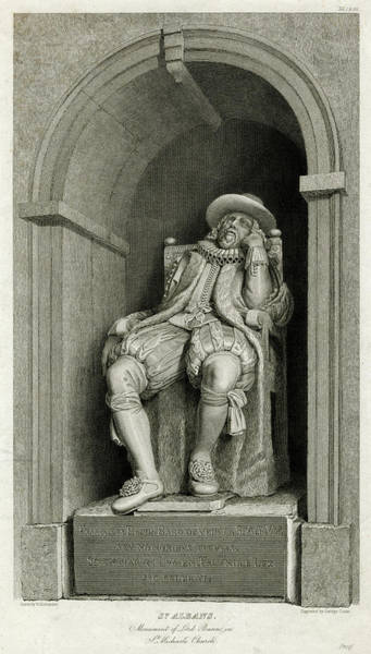 Francis Bacon Wall Art - Drawing - Lord Francis Bacon Viscount St Albans - by Mary Evans Picture Library