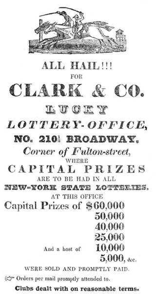 Painting - Lottery Advertisement by Granger