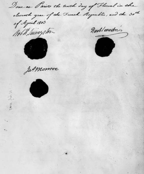 Louisiana Purchase Painting - Louisiana Purchase, 1803 by Granger