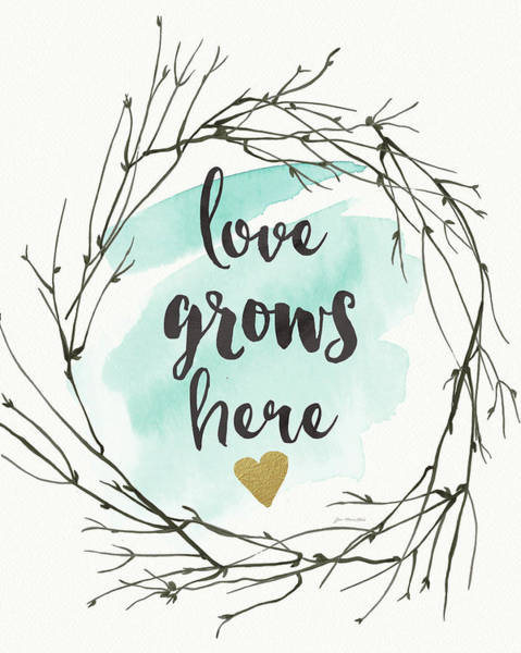 Wall Art - Painting - Love Grows Here by Jo Moulton