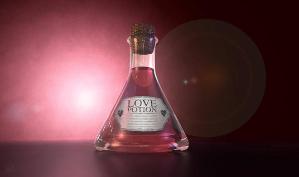 Liquid Digital Art - Love Potion by Allan Swart