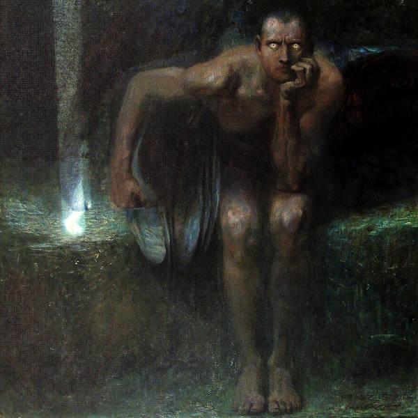 Franz Von Stuck Painting - Lucifer  by Franz von Stuck