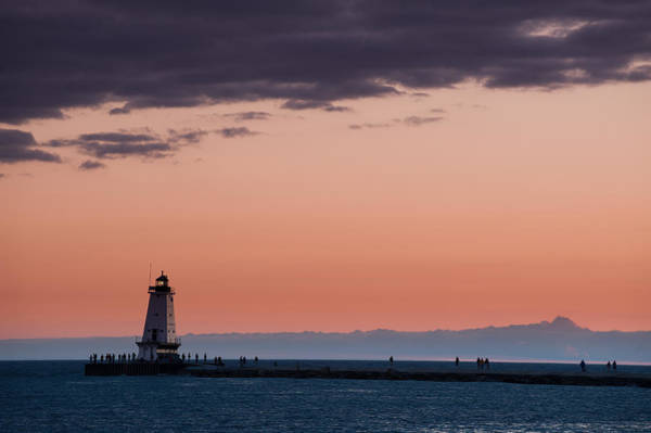 Photograph - Ludington North Breakwater Lighthouse by Sebastian Musial
