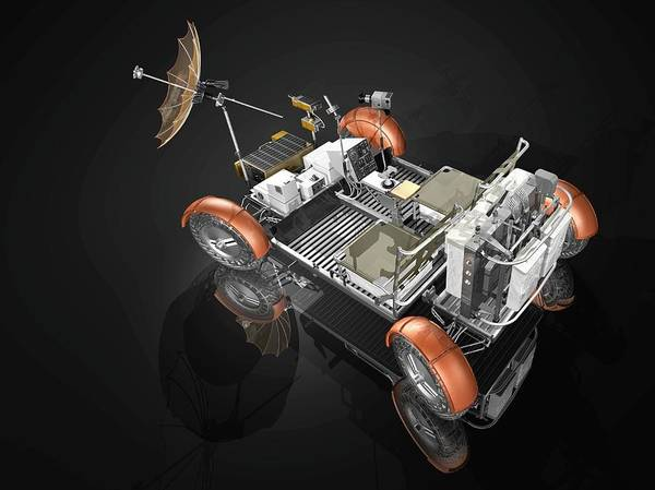 Battery D Photograph - Lunar Roving Vehicle by Carlos Clarivan/science Photo Library
