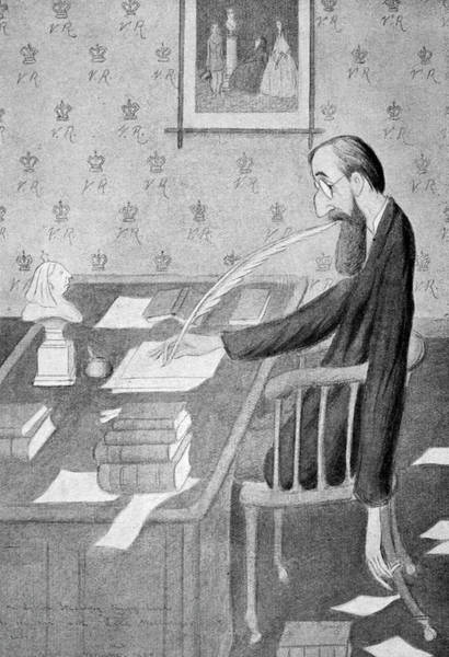 Parody Drawing - Lytton Strachey (1880-1932) by Granger