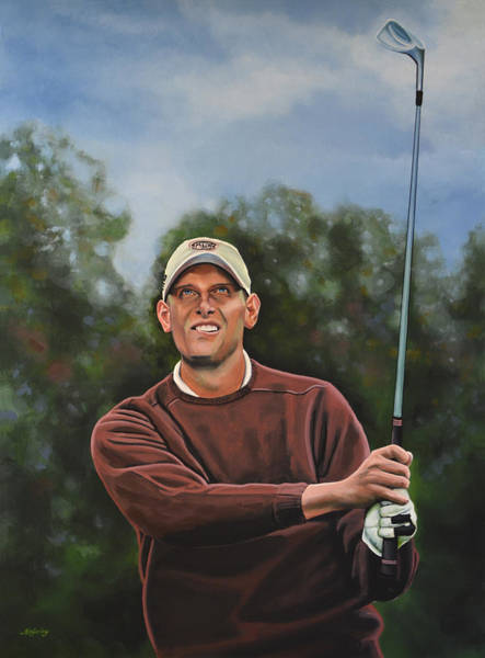 Golf Painting - Maarten Lafeber  by Paul Meijering