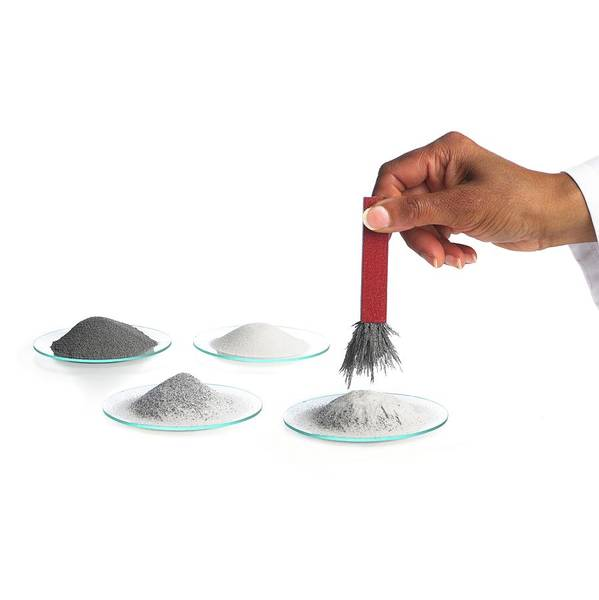 Demonstration Photograph - Magnetic Extraction Of Iron Filings by Science Photo Library