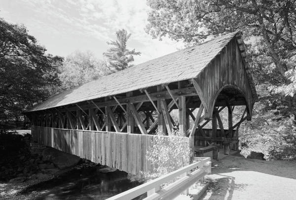 Wall Art - Photograph - Maine Covered Bridge, 2003 by Granger