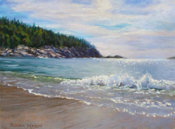 Bar Scene Painting - Maine Morning by Bonnie Mason