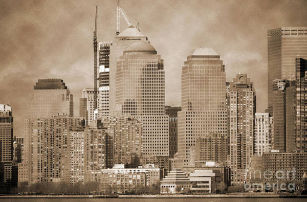 Photograph - Manhattan Buildings Vintage by RicardMN Photography