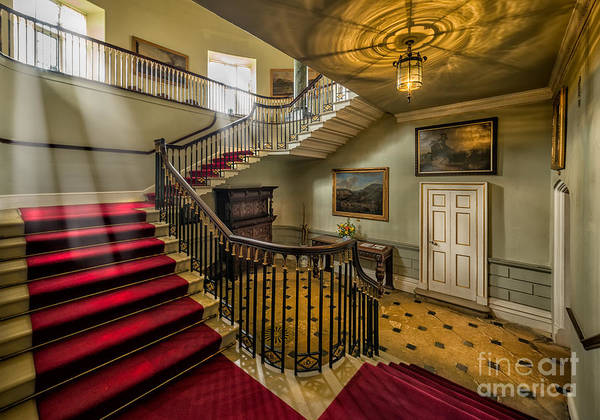 Oil Lamp Photograph - Mansion Stairway by Adrian Evans