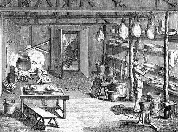 Cheese Drawing - Manufacturing Gruyere Cheese   - by Mary Evans Picture Library