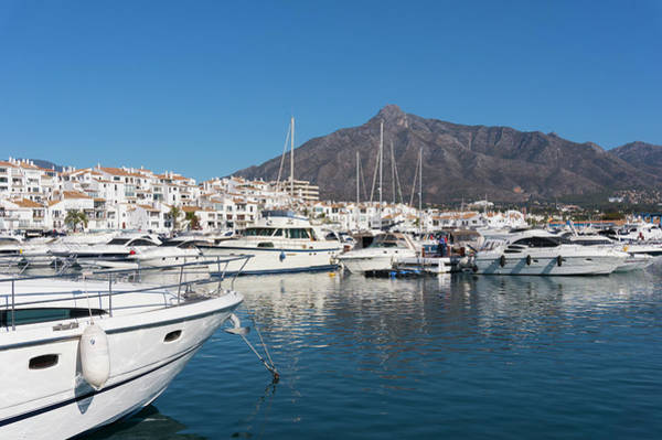 Marbella Photograph - Marbella, Spain. Jose Banus Harbour by Ken Welsh
