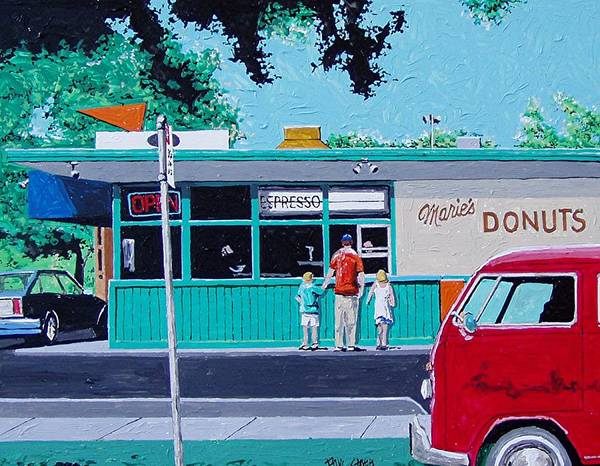Wall Art - Painting - Maries Donuts by Paul Guyer