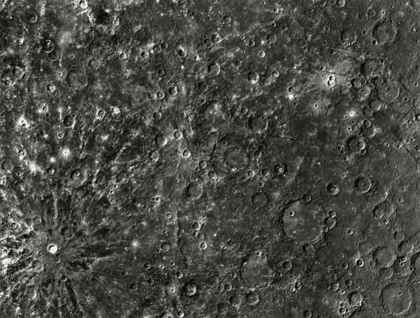Wall Art - Photograph - Mariner 10 Photograph Of The Surface Of Mercury by Nasa/science Photo Library