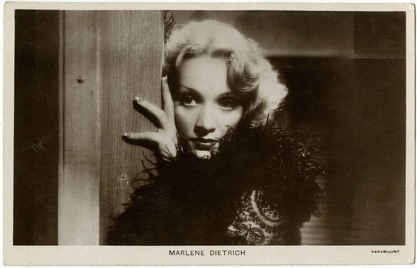 Wall Art - Photograph - Marlene Dietrich (1901 - 1992), German by Mary Evans Picture Library