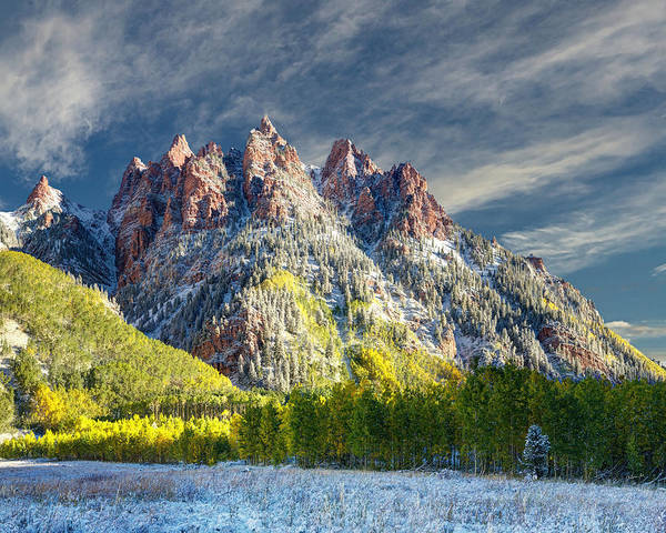 Photograph - Maroon Bells  by OLena Art Brand