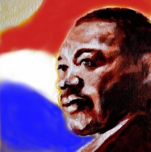 Mlk Digital Art - Martin Luther King by David Francke