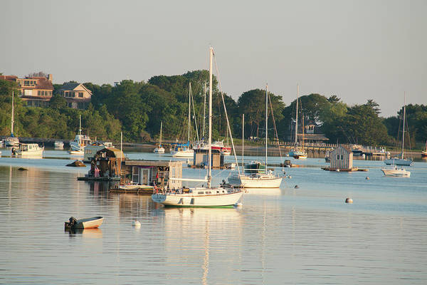 Houseboat Photograph - Massachusetts, Woods-hole by Cindy Miller Hopkins