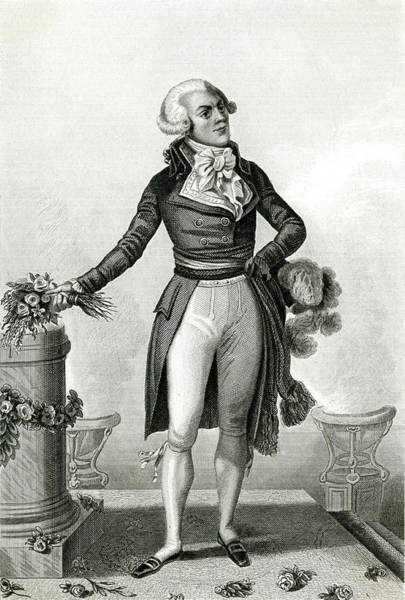 Wall Art - Drawing - Maximilien Robespierre -  French by Mary Evans Picture Library