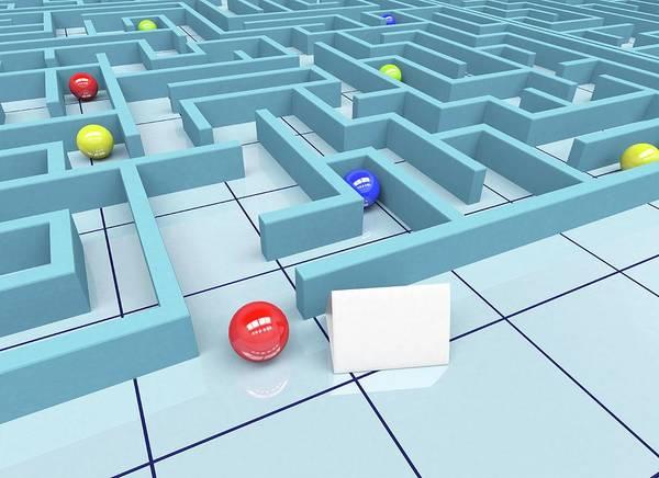 Difficult Photograph - Maze by Wladimir Bulgar/science Photo Library