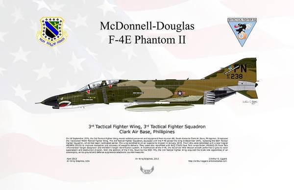 101 Digital Art - Mcdonnell Douglas F-4e Phantom II by Arthur Eggers