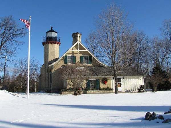 Photograph - Mcgulpin Point Lighthouse In Winter by Keith Stokes