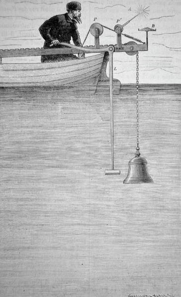Wall Art - Photograph - Measuring The Velocity Of Sound In Water by Universal History Archive/uig