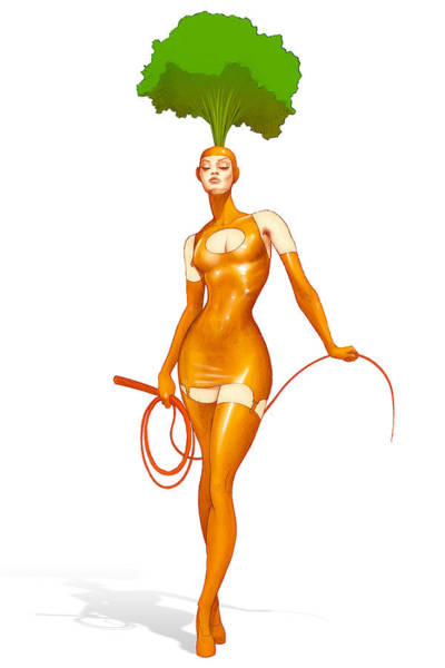 Organic Gardening Drawing - Meet Carrie The Carrot by YNFWB Your new friends with BENEFITS