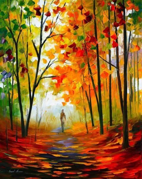Wall Art - Painting - Melody Of Autumn by Leonid Afremov