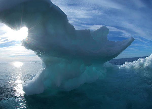 Water Erosion Photograph - Melting Arctic Sea Ice by Louise Murray/science Photo Library