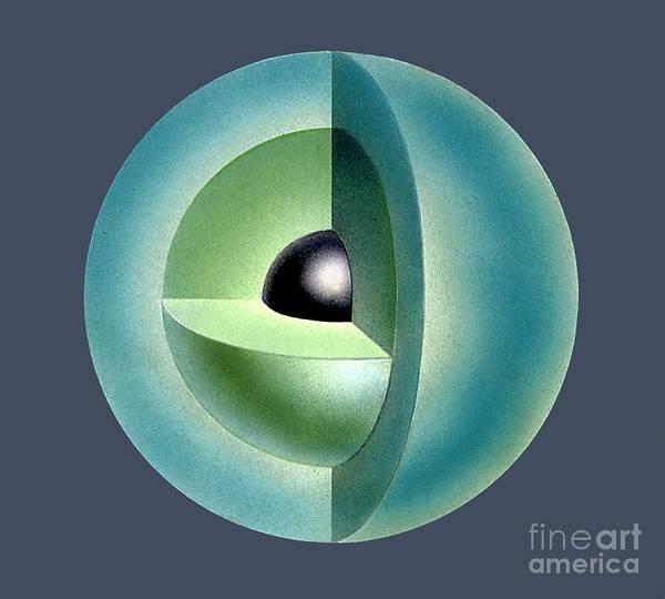 Wall Art - Photograph - Mercury's Internal Structure, Artwork by David A. Hardy