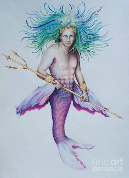 Drawing - Merman by David Neace