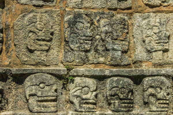 Hieroglyph Photograph - Mexico, Yucatan, Chichen Itza by Jerry Ginsberg