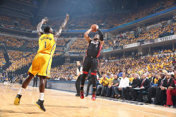 Wading Photograph - Miami Heat V Indiana Pacers - Game 2 by Nathaniel S. Butler