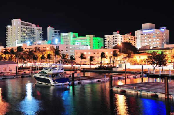 Photograph - Miami South Beach Street by Songquan Deng