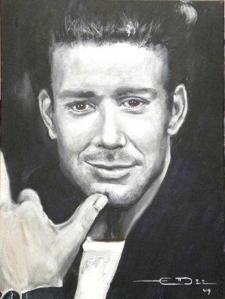 Painting - Mickey Rourke by Eric Dee