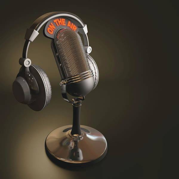 The Grey Photograph - Microphone And Headphones by Ktsdesign/science Photo Library