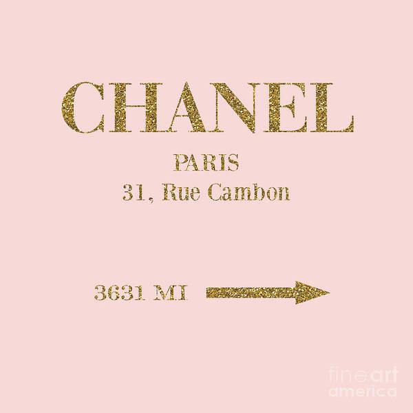 Wall Art - Digital Art - Mileage Distance Chanel Paris by Edit Voros