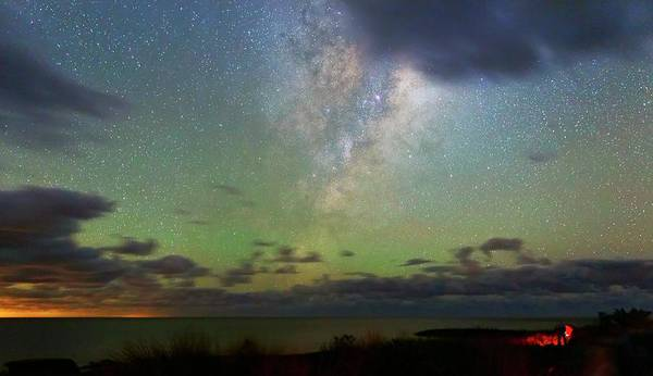 Astronomical Twilight Photograph - Milky Way by Luis Argerich